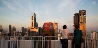 Singapore millennials looking at city