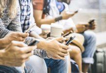 millennials using instagram on smartphone