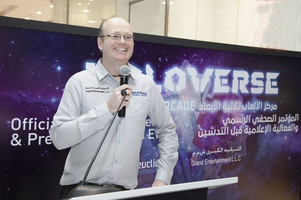 Bruce Dell at holoverse launch Oman