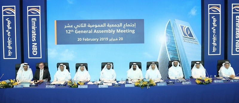 Emirates NBD holds its 12th General Assembly Meeting
