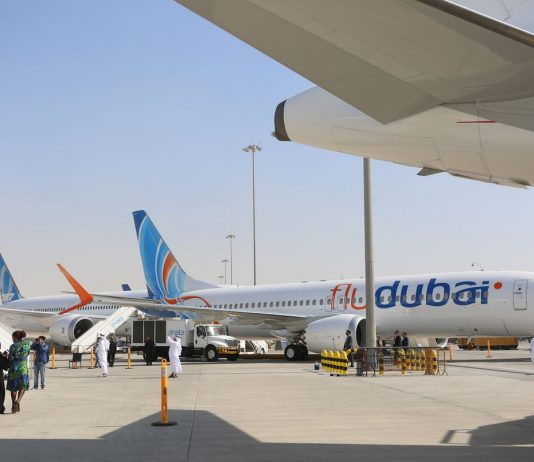 A Boeing Co. 737 MAX8 aircraft, operated by FlyDubai