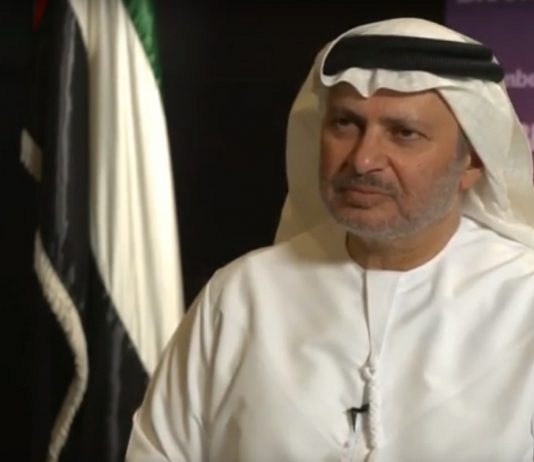 """Tensions in the Gulf can only be addressed politically,"""" the U.A.E.'s minister of state for foreign affairs, Anwar Gargash"""