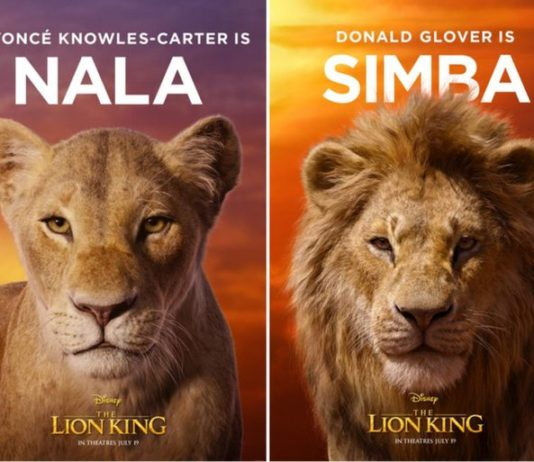 disney's the lion king poster featuring Beyoncé