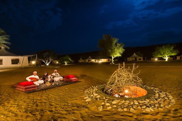 Desert camping in Oman