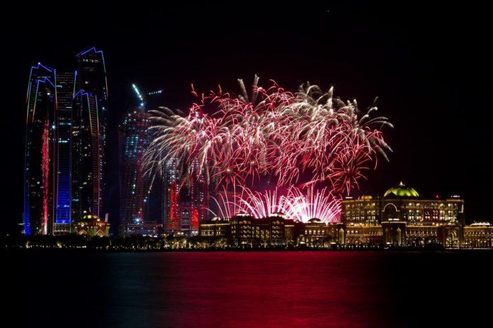 abu dhabi fireworks; DCT Abu dhabi
