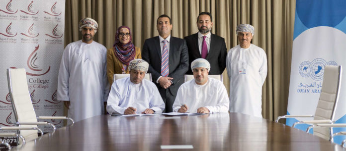 OAB, Majan College at MoU signing ceremony of new e-payment gateway