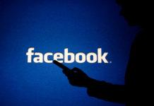 facebook logo in background
