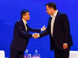 jack ma & elon musk at world artificial intelligence conference