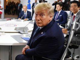 US president donald trump at G-7 summit