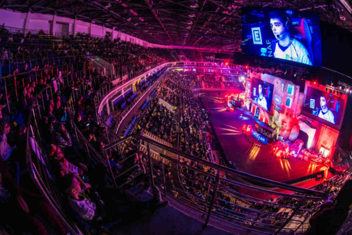 MOSCOW, RUSSIA - OCTOBER 2018: Counter Strike: Global Offensive esports event