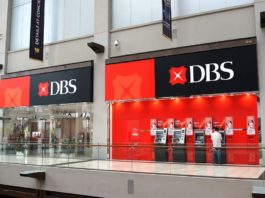 DBS Bank in Marina Bay Sands mall Singapore.