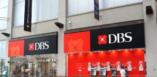 DBS Bank in Marina Bay Sands mall Singapore.