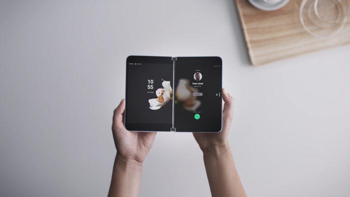 surface suo microsoft foldable phone