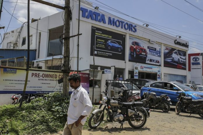 India Tata Motors Sees February Domestic Sales Drop 34%