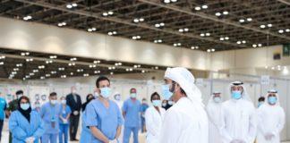 Hamdan bin Mohammed visits field hospital in DWTC