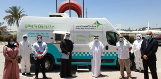 Dubai Health Authority deploys advanced mobile testing unit to conduct COVID-19 screening in labour camps