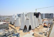External construction for Austria Pavilion at Expo 2020 complete