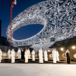 Mohammed bin Rashid witnesses installation of final component in Museum of the Future's facade