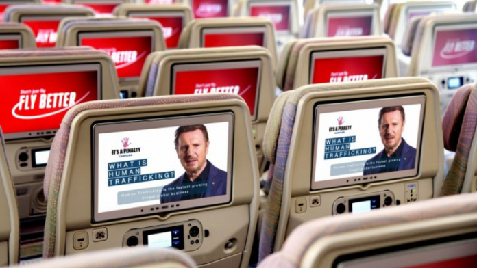 Emirates helps shine a spotlight on the issue of human trafficking